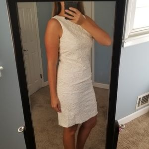 White Rose Embroidered Cocktail dress Sz 10